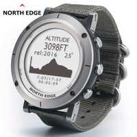 Intelligente orologi Degli Uomini di sport all'aria aperta orologio da polso impermeabile 50m pesca GPS Altimetro Barometro Termometro Bussola Altitudine NORD BORDO