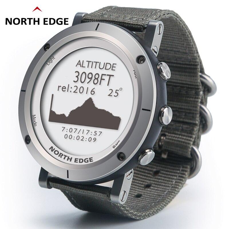 Relógios inteligentes homens esportes ao ar livre relógio à prova d50 água 50m pesca gps altímetro barômetro termômetro bússola altitude borda norte