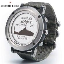 цена Smart watches Men outdoor sports watch waterproof 50m fishing GPS Altimeter Barometer Thermometer Compass Altitude NORTH EDGE онлайн в 2017 году