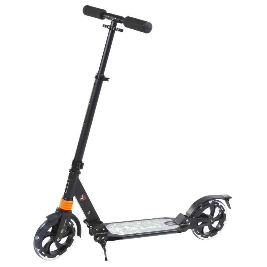 Lipat Kick Scooter Portabel Kota Skuter Tinggi Adjustable Anti-Shock Outdoor Dewasa Skuter Hitam/Putih