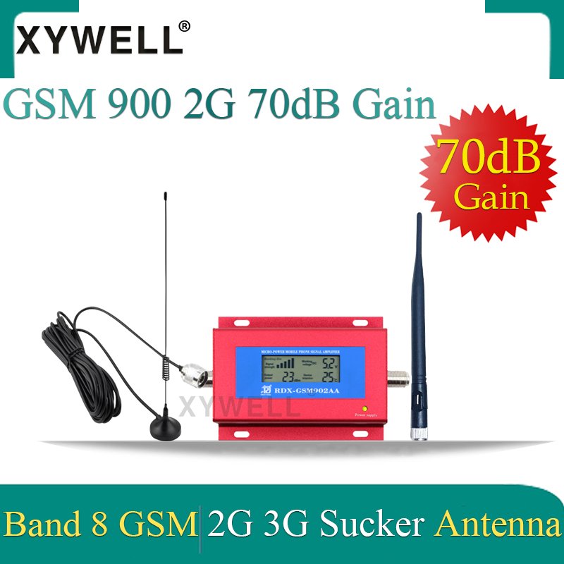XYWELL Gsm Signal Booster 2G GSM 900 MHz Cellular Signal Repeater Amplifier With Sucker Antenna And Smart LCD Display Wholesale