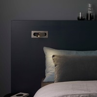 zerouno bedside book light led reading book lights bedroom headboard ressessed in wall lamp for night reading lighting