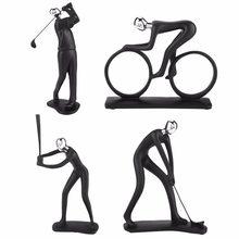 Statue de cycliste en résine abstraite moderne, Figurine de cycliste, de cycliste, de cycliste, de cycliste, de bureau, de maison, de salon