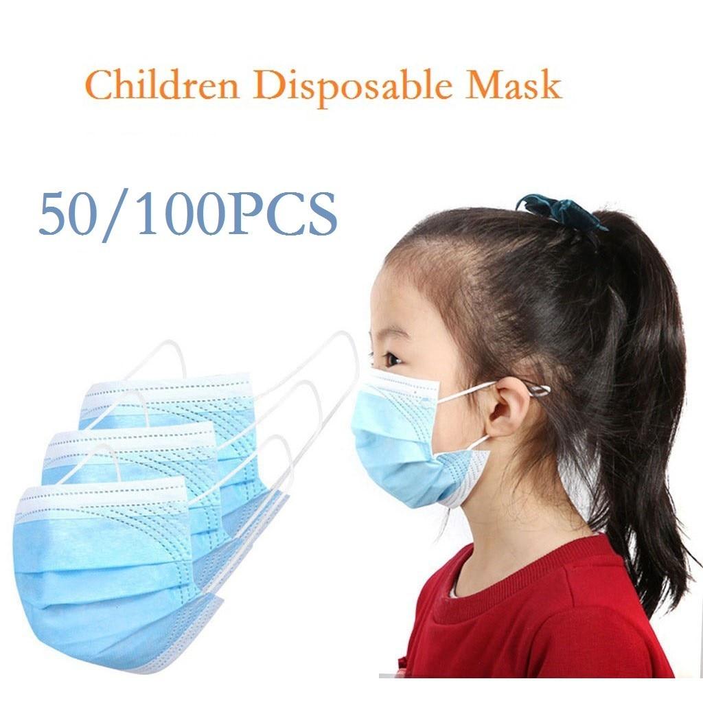 Máscaras descartáveis Máscara de Proteção à Criança 3-Filtração camada Маски Для Лица Защитные Rosto Máscara Dustproof Маска 24h Grátis