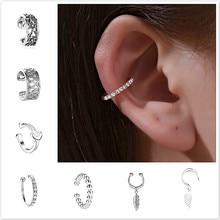 Ear Piercing Earring Clip Jewelry Ear-Cuff Tragus-Body Snug Wrap on