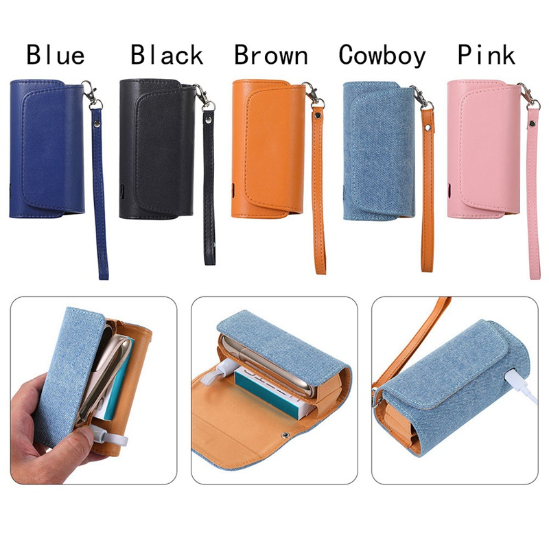 Cover Wallet Leather Case For Iqos 3.0 Fashion Flip Double Book Cover Case Pouch Bag Holder