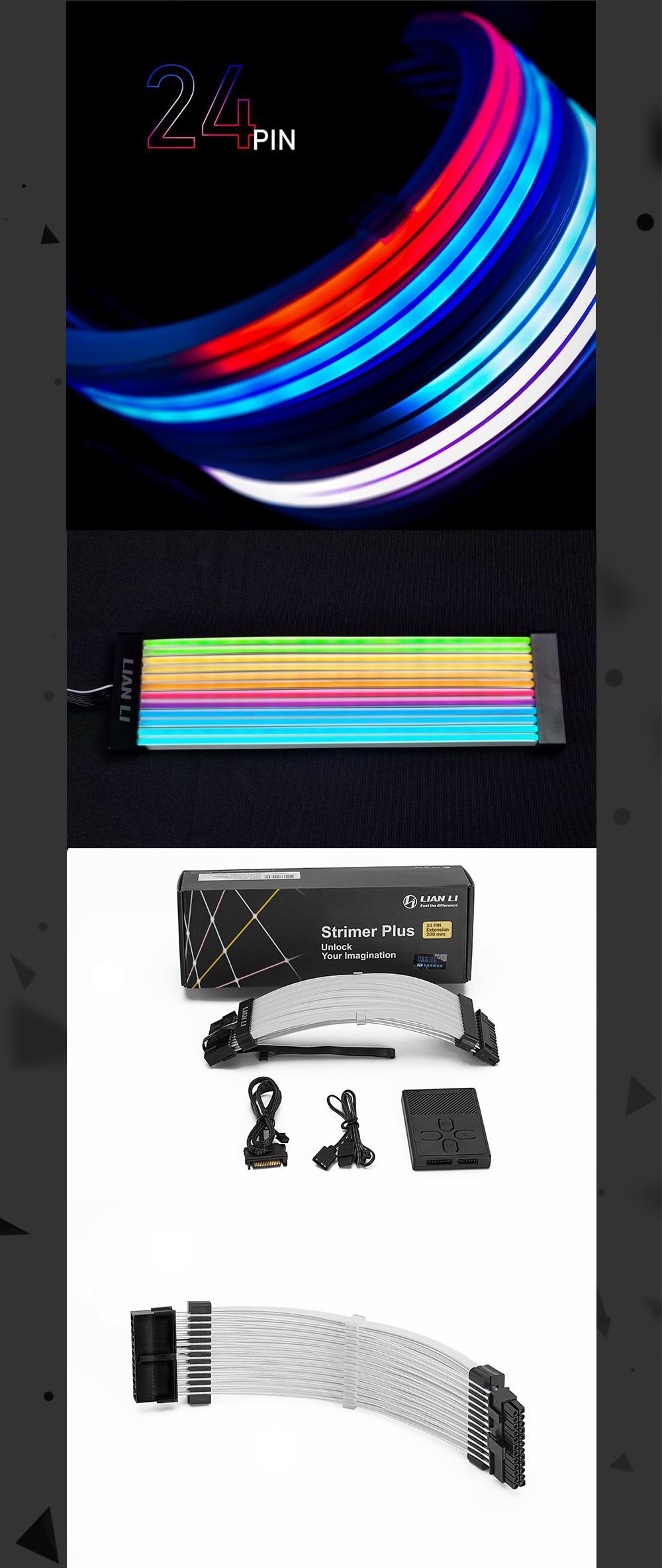 Extension Cable Kit Lian Li Strimer Plus Rgb Pc Addressable 5v A-Rgb cable for Motherboard Atx 24pin PCI-E Gpu 8pin