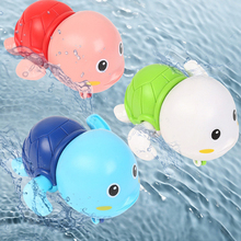 Baby Bath Toys Swimming Small Cute Turtle Clockwork Bathroom Playing Water Toy Bathtub For Kids Children Boys Girls Gifts