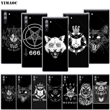 YIMAOC Witch and Cat Case for Samsung Ga