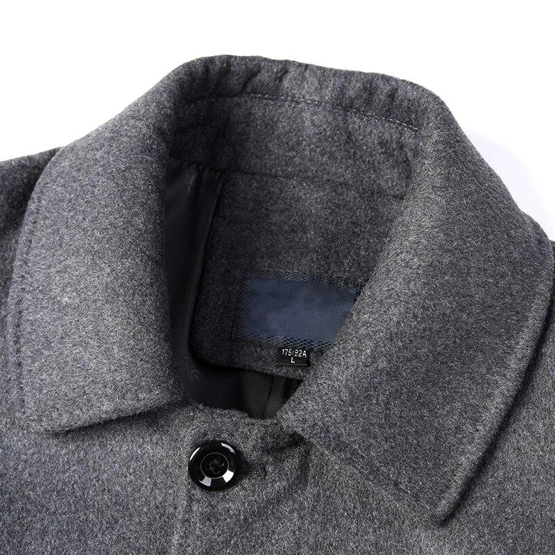 8XL 6XL 5XL Wool Blend Men's Coat Woollen Overcoat Winter Autumn Men Coat Fashion Brand Clothing Lined Warm Woolen Overcoat Male - 6