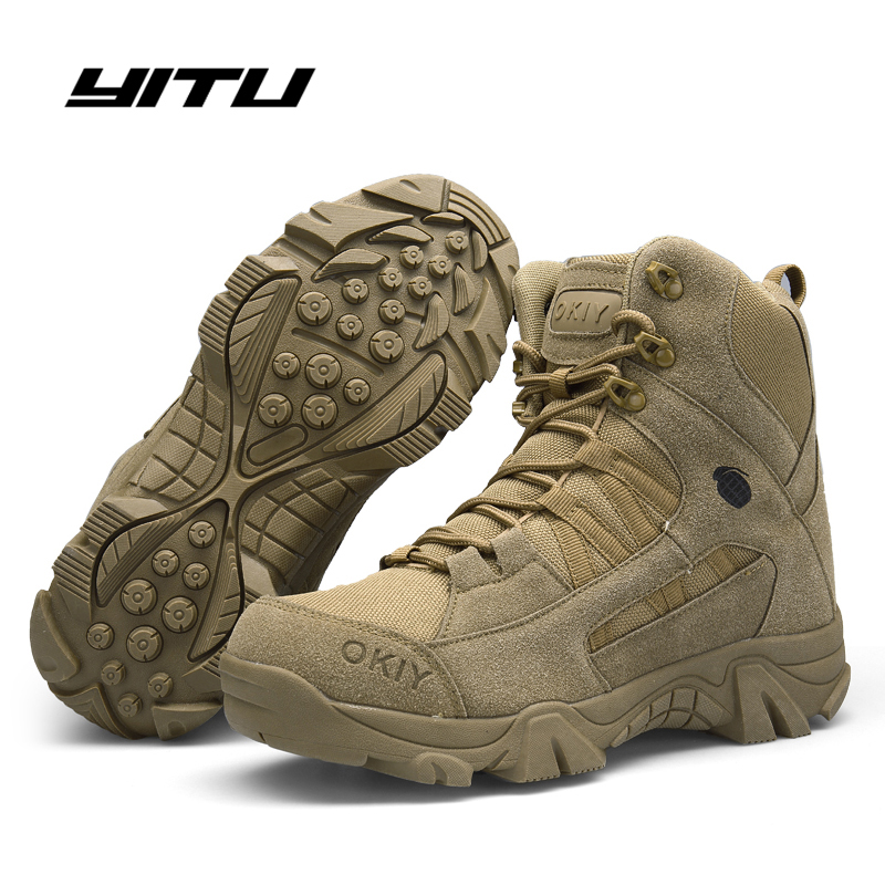Winter/Autumn Men Desert Military Tactical Boots Army Outdoor Hiking Boot Fashion Casual Shoes Waterproof Work Combat Boots image