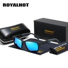 Мужские и женские эластичные солнцезащитные очки RoyalHot, удобные поляризационные очки в оправе TR90, темные очки для вождения, 90080