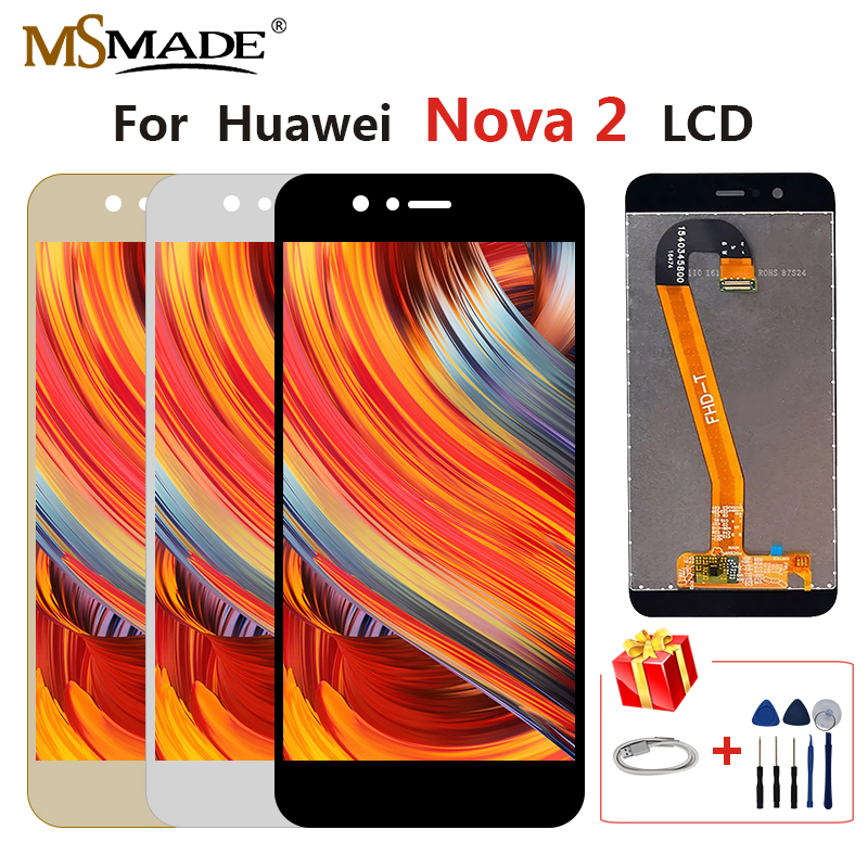 Original For Huawei Nova 2 PIC-L29 PIC-L09 PIC-LX9 LCD Touch Screen Display Digitizer Assembly Parts With Frame Free Shipping