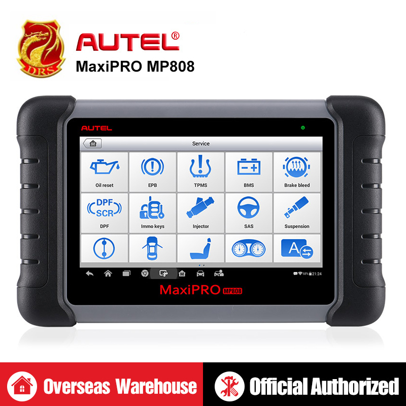 Autel MAXIDAS DS808 MP808 Diagnostic Scanner Tool OBD2 Scanner OBDII Automotive tools Update Autel DS708 as Autel MaxiSys MS906-in Car Diagnostic Cables & Connectors from Automobiles & Motorcycles
