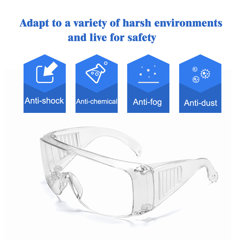 Protective Work Safety Glasses Cycling Wind Dust Proof Safety Goggles For Chemical Research Construction Site Operating Room