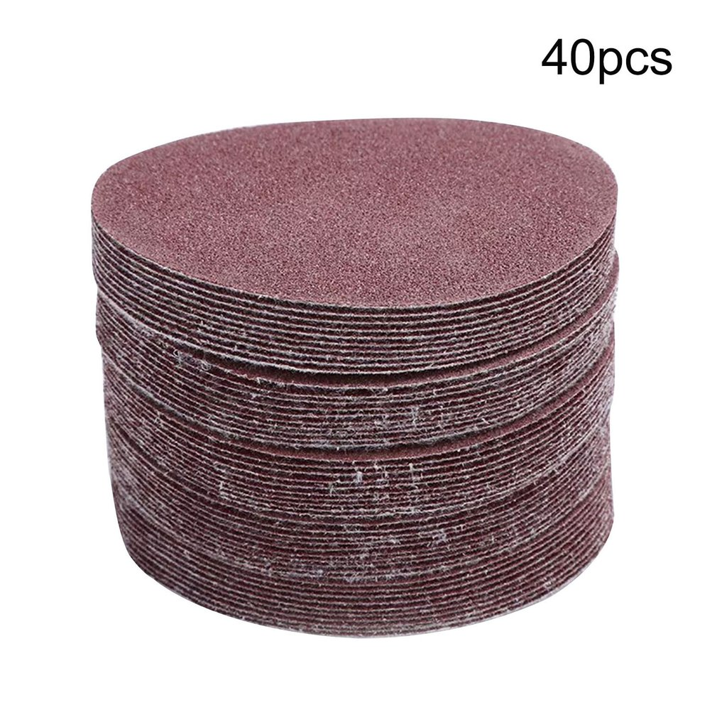 40PCS 5 Inch 125mm Sanding Disc Round Sandpaper Polishing Disk Sand Sheets 60-180 Grit For Polishing Cleaning Tool