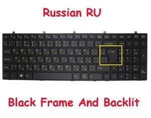 RU Backlit Keyboard For CLEVO W370ET MP-12A36SU-4304W MP-13H86SUJ4304 6-80-W37S0-281-1D 6-80-W6700-280-1 MP-12A33SU-4308 Russia(China)