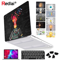 Redlai Plastic Hard Shell Case Voor Macbook Air Pro Retina 11 12 13 15 16Inch Touch Bar A2141 A2159 a1932 Laptop Cover A2179 2020