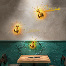 Modern Creative Golden Spider LED Wall Lamp Nordic Decor Wall Lights Bedroom Living Dining Room Sconces Children Room Fixtures black round modern led wall lights for home children bedroom led beside lamp wall sconces appliques murales aplik lamba