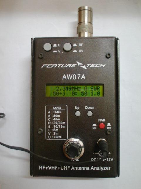 Verison anglaise HF + UV AW07A HF/VHF/UHF 160M 490Mhz analyseur d'antenne SWR d'impédance Radio à ondes courtes + manuel en anglais