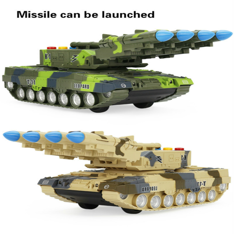 1:32  Soldiers Military Tank Toy Kids Plastic Model War Cannon Rotated Missile Armored Vehicle Army Battle Sound And Light