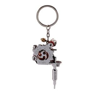 Image 2 - 1 מחשב נייד מיני קעקוע מכונת Keychain קעקוע כלים פאנק סגנון מפתח מחזיק כמו תליון קישוט עבור גברים & נשים מתנת מלאכות