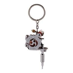 Image 2 - Porte clés Mini Machine à tatouer Portable, outils de tatouage, porte clé de Style Punk, ornement en pendentif, pour hommes et femmes, artisanat cadeau, 1 pièce