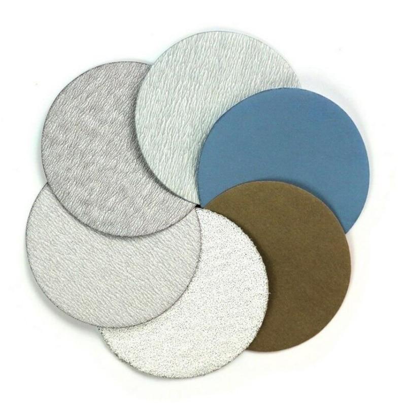 75mm 60,240,600,1000,5000,10000 Grit Wet/Dry Hook And Loop Sanding Discs