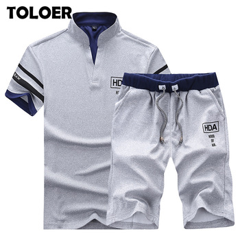 2020 Men's Summer Sets Shorts + Short Sleeve T shirt Men   1