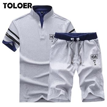2020 Men's Summer Sets Shorts + Short Sleeve T shirt Men   1