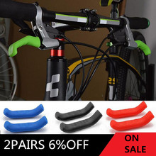 Bicycle Brake Handle Cover Silicone MTB Bike Bicycle Handlebar Protect Cover anti-slip Bicycle Protective Gear Bike accessories(China)