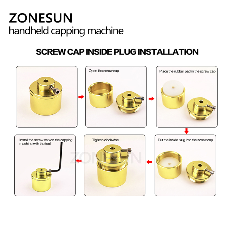 Tools : ZONESUN Manual Capping Machine Handheld Electric Sealing Bottle Lid Tightener For Screwing Cap Plastic Bottle Screw Capper