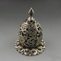 Eight treasures Ruyi smoke stove plate censer copper collection brass white copper silver plated copper antique censer