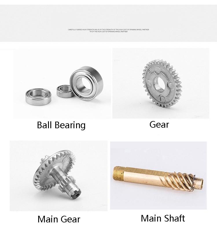 metal nenhuma linha de carretel de fiação