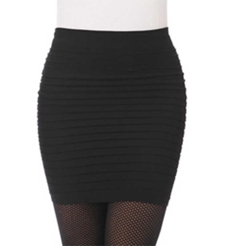 Najtańszy darmowa wysyłka New Fashion 2020 lato kobiet spódnica wysokiej talii cukierki kolor Plus rozmiar elastyczna plisowana seksowna krótka spódniczka