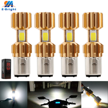 4PCS-10PCS 9-80V BA20D H6 Led 6W 18W COB Bulb 1200Lm Aluminum Fog Light Electric Cars Motorcycle Headlights Lamps