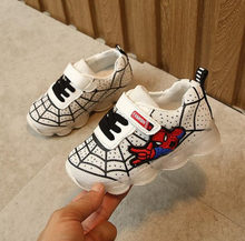 2020 Spring Children Shoes Light Up Shoes Boys Sneaker Spiderman Kids Led Shoes with Lights Sneaker Toddler Baby Girl Shoes(China)