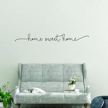 Romantic Warm Letter Sweet Home Wall Art Decal Sticker Removable Living Room Home Decoration Kids Room living room Decal Sticker hot sale welcome sweet home wall sticker for living room