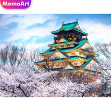 MomoArt 5D Diy Landscape Diamond Painting house Full Drill Square Embroidery Cross Stitch Home Decoration Gift momoart 5d full drill square diamond painting flowers diy diamond embroidery daisy cross stitch home decoration gift