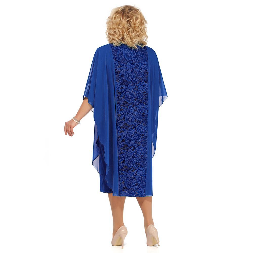 HOT SALE Plus Size Lace Mother Of The Bride Dress Suit 2021 Tea Length Wedding Party Gown Half Sleeves robe de soirée de mariage