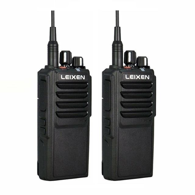 2pcs LEIXEN VV 25 Walkie Talkie 25W Ham Radio Amador 12.6V 4000mAh Battery Walky Talky Professional Uhf Marine Radio Comunicador