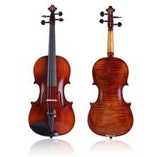 Скрипка ручной работы, классическое профессиональное представление для детей или взрослых, 3/4 4/4, скрипка, чехол для скрипки, канифоль