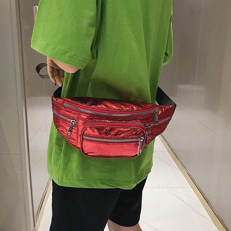 2019 винтажная женская сумка на пояс, сумка на пояс, роскошная кожаная нагрудная сумка черного цвета, новая модная качественная сумка