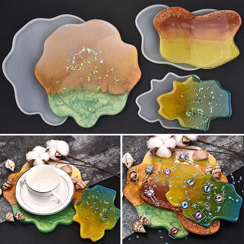 Silicone caboteur moules résine bijoux UV époxy pressé fleur irrégulière nuage forme moules pour bijoux faisant des outils bricolage artisanat