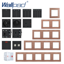 S6 Seri Switch dan Soket Gratis DIY Kombinasi Lampu Dinding Switch Power Outlet Socket Coklat Bingkai Logam DIY Wallpad(China)