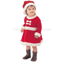 2019 New 0-15 years old velvet Christmas childrens clothing girls plus thickening clothes