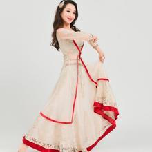 India Sarees Woman Beautiful Princess Dance Costume India Style Performance Anna Dress Pakistan Sets Top+Skirt+Cloak