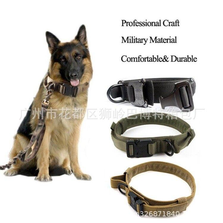 1.5-Inch Dog Collar Medium Large Dog Training Dog Collar Pet Collar Tactical Military Dog Collar