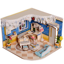 Diy Doll House Wooden Hand Assembled House Model Piano House Home Furnishing Birthday Creative Gift Valentine's Day Gift 244