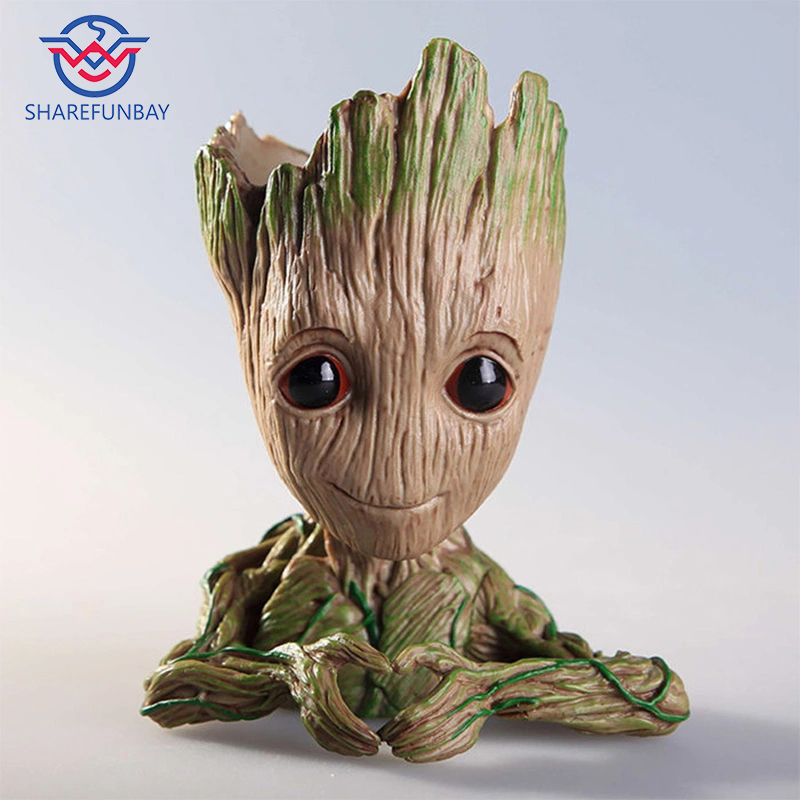 Tree Man Baby Anime Action Figure Dolls Penholder Guardians Of The Galaxy 2 Model Hero Pen Pot And Flower Pot Toys Groot